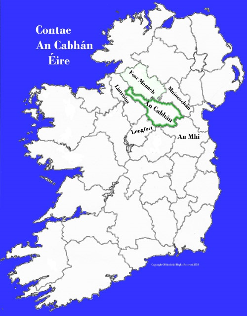 Map Of Ireland Cavan.Cavan County Map And Flag