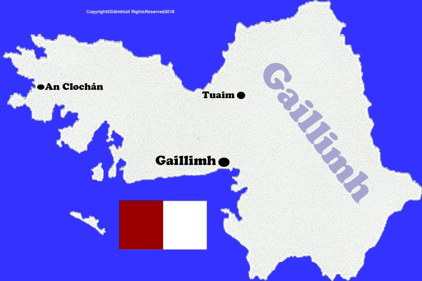 Map Of Ireland Galway County.Map Of County Galway With County Flag