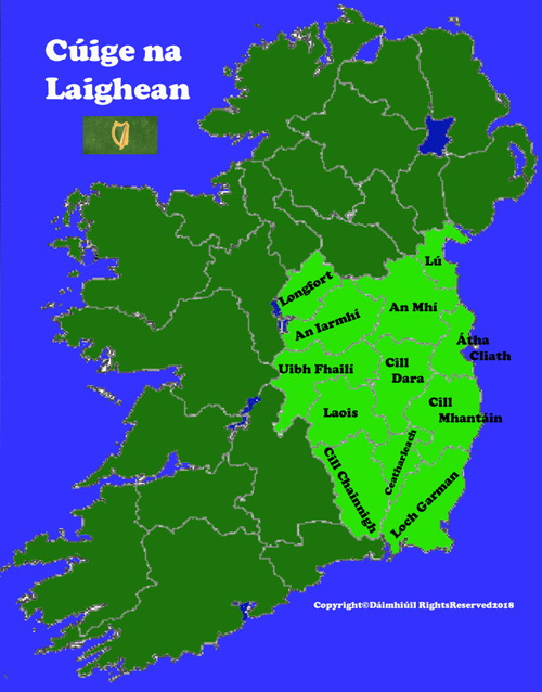 Map Of Ireland Leinster.Map Of Leinster Province In Ireland