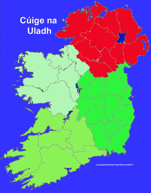 Map Of Ulster Province In Ireland
